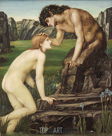 Burne-Jones | Pan and Psyche, c.1872/74
