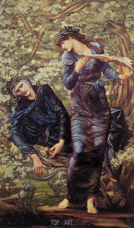 Burne-Jones | The Beguiling of Merlin, 1874