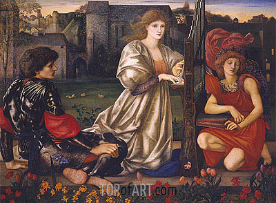 Le Chant d'Amour (The Love Song), c.1868/77 | Burne-Jones| Painting Reproduction