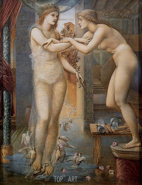 Pygmalion and the Image-The Godhead Fires, c.1868/78 | Burne-Jones| Painting Reproduction