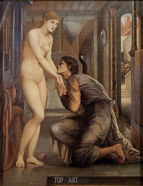 Pygmalion and the Image-The Soul Attains, c.1868/78 | Burne-Jones| Painting Reproduction