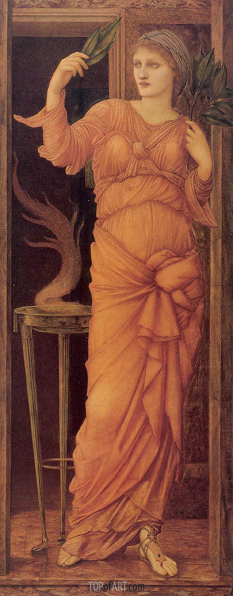 Sibylla Delphica, 1868 | Burne-Jones| Gemälde Reproduktion