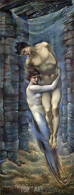 The Depths of the Sea, 1887 | Burne-Jones| Painting Reproduction