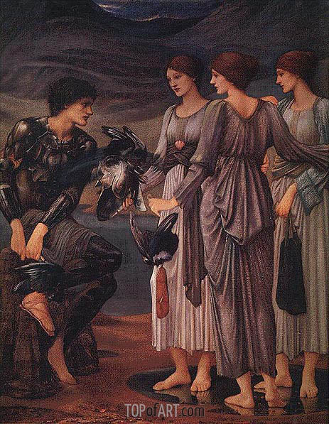 The Arming of Perseus, c.1885/88 | Burne-Jones | Gemälde Reproduktion