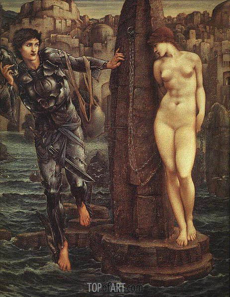 Burne-Jones | The Rock of Doom, c.1885/88