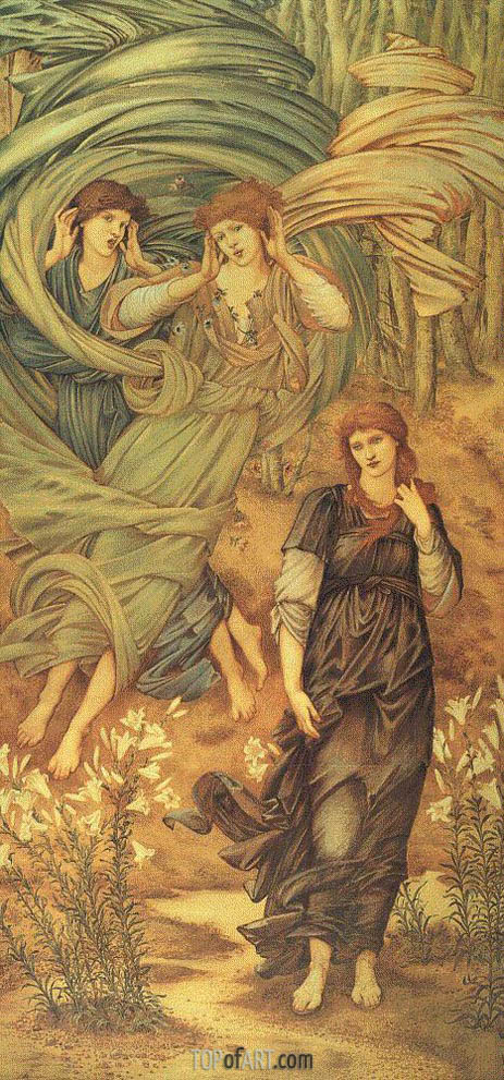 Sponsa de Libano, 1891 | Burne-Jones | Painting Reproduction