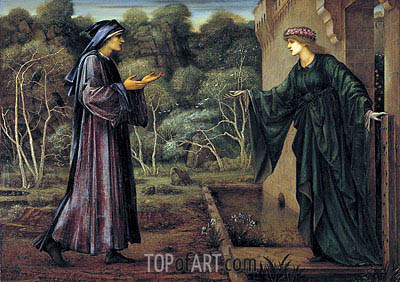 Burne-Jones | The Pilgrim at the Gate of Idleness, 1884