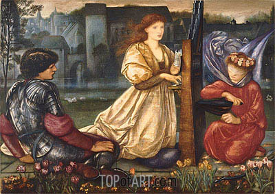 The Love Song (Le Chant d'Amour), 1865 | Burne-Jones| Gemälde Reproduktion