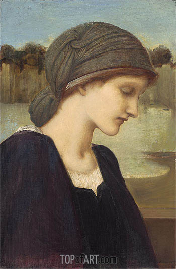 Flamma Vestalis,  | Burne-Jones | Painting Reproduction