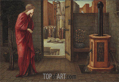 Danae Watching the Building of the Brazen Tower, 1872 | Burne-Jones | Painting Reproduction
