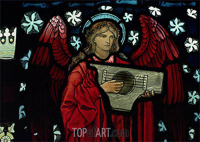 Burne-Jones | Angel Musician (Detail), 1882