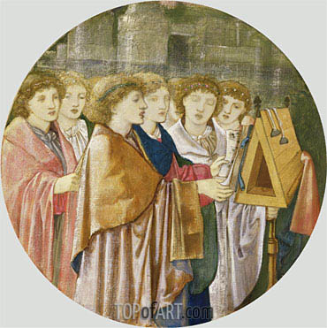 The Choristers, undated | Burne-Jones | Gemälde Reproduktion