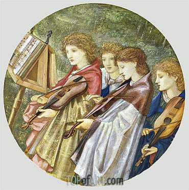 The Musicians, undated | Burne-Jones| Painting Reproduction