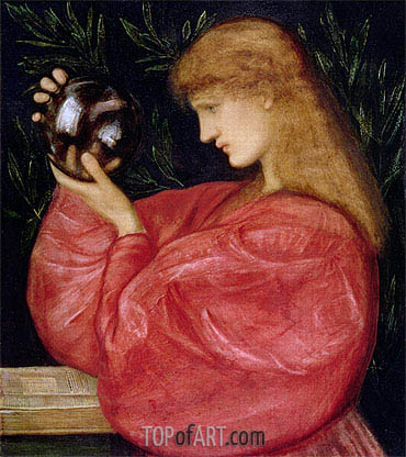Astrologia, 1865 | Burne-Jones | Gemälde Reproduktion