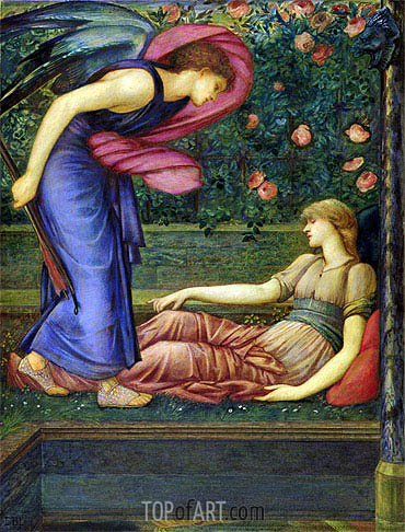 Cupid and Psyche, c.1865/87 | Burne-Jones| Gemälde Reproduktion