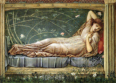 The Sleeping Beauty, 1871 | Burne-Jones | Painting Reproduction