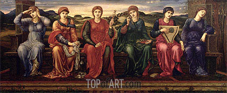 The Hours, c.1870/82 | Burne-Jones | Gemälde Reproduktion
