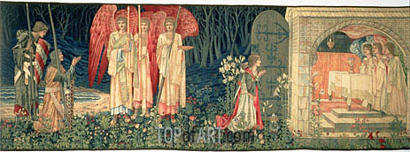 Holy Grail Tapestry, c.1895/96 | Burne-Jones| Painting Reproduction