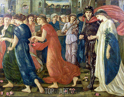 St. George and the Dragon: The Return, 1866 | Burne-Jones | Painting Reproduction