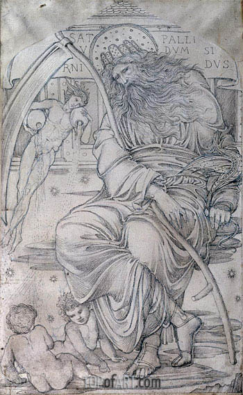Saturn,  | Burne-Jones| Painting Reproduction
