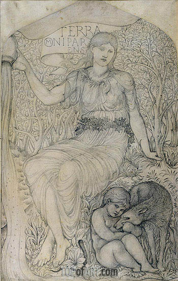 Earth,  | Burne-Jones| Painting Reproduction