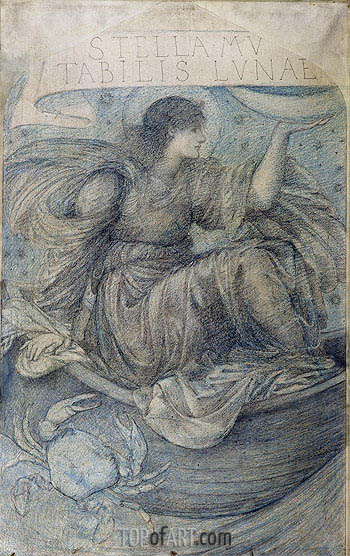 The Moon,  | Burne-Jones | Painting Reproduction