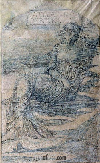 Hesperus, the Evening Star,  | Burne-Jones | Painting Reproduction
