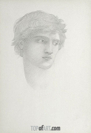 Head of Perseus,  | Burne-Jones | Painting Reproduction