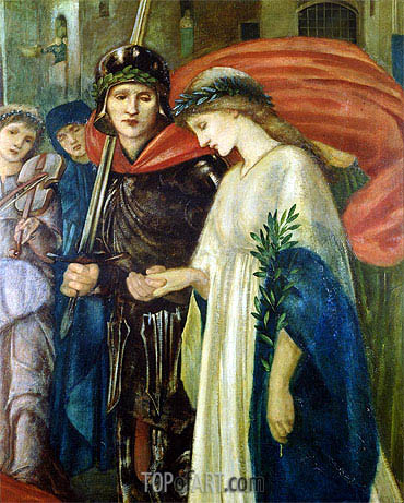 Burne-Jones | St. George and the Dragon: The Return (Detail), 1866