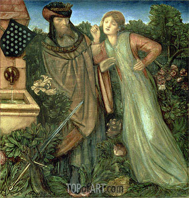 King Mark and the Belle Iseult, 1862 | Burne-Jones | Painting Reproduction