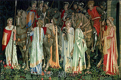The Arming and Departure of the Knights, c.1895/96 | Burne-Jones | Painting Reproduction