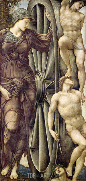 The Wheel of Fortune, c.1871/85 | Burne-Jones | Gemälde Reproduktion