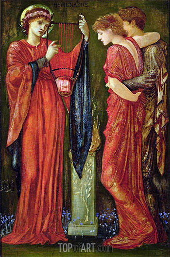 Hymenaeus, undated | Burne-Jones| Painting Reproduction