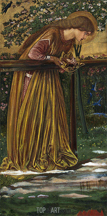 The Blessed Damozel, c.1856/61 | Burne-Jones | Painting Reproduction