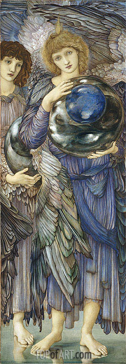 The Days of Creation: The Second Day, c.1870/76 | Burne-Jones | Painting Reproduction