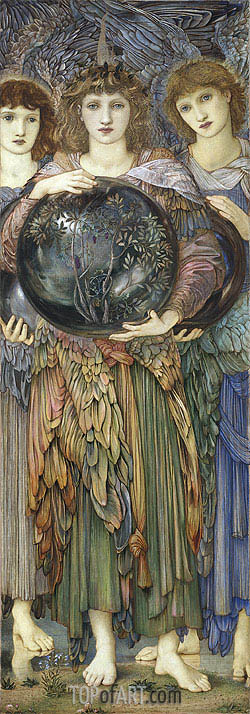 The Days of Creation: The Third Day, c.1870/76 | Burne-Jones | Painting Reproduction