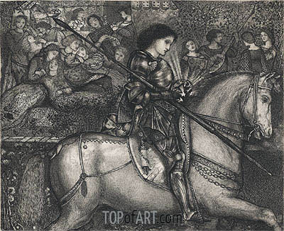 Sir Galahad, 1858 | Burne-Jones | Painting Reproduction