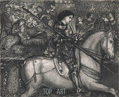 Burne-Jones | Sir Galahad, 1858