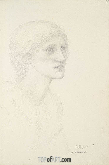 Portrait of Mrs. Drummond,  | Burne-Jones | Painting Reproduction