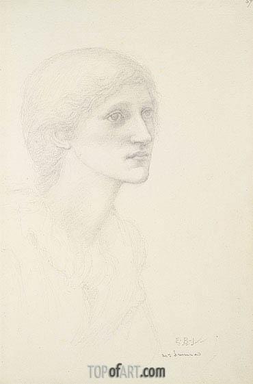 Burne-Jones | Portrait of Mrs. Drummond,