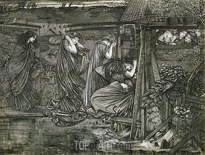 The Wise and Foolish Virgins, undated | Burne-Jones | Painting Reproduction