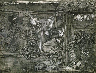 Burne-Jones | The Wise and Foolish Virgins, undated