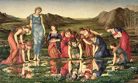 The Mirror of Venus, c.1870/76 | Burne-Jones | Painting Reproduction
