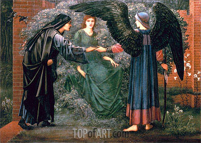 Heart of the Rose,  | Burne-Jones | Painting Reproduction