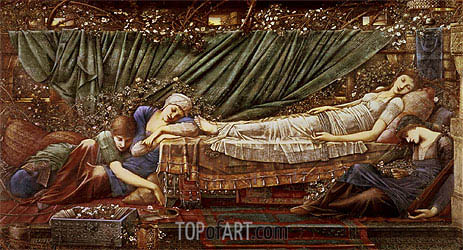 The Briar Rose - The Sleeping Beauty, c.1870/90 | Burne-Jones| Gemälde Reproduktion
