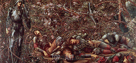 The Briar Rose - The Prince Enters the Briar Wood, c.1870/90 | Burne-Jones| Painting Reproduction