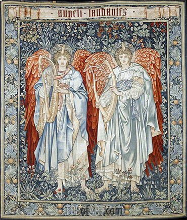 Angeli Laudantes, 1894 | Burne-Jones | Painting Reproduction