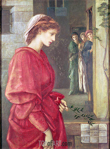 Beatrice, 1870 | Burne-Jones| Painting Reproduction