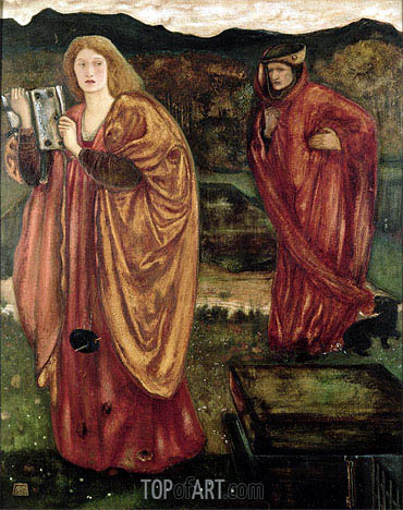 Merlin and Nimue, 1861 | Burne-Jones | Painting Reproduction