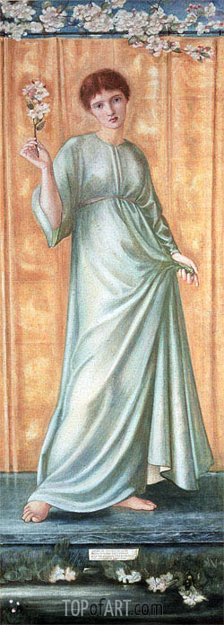 Spring, c.1869/70 | Burne-Jones| Painting Reproduction